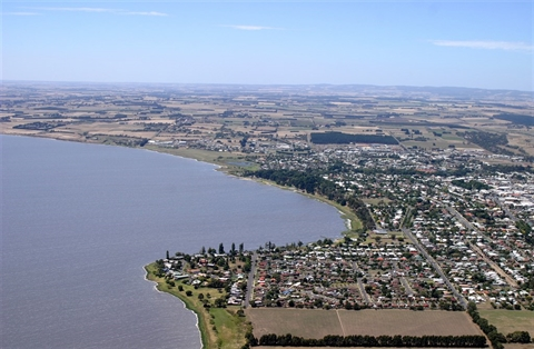Aerial view of Colac