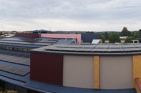 Rae St Solar PV Array - panoramic view