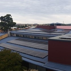 Solar panels on roof of Council office