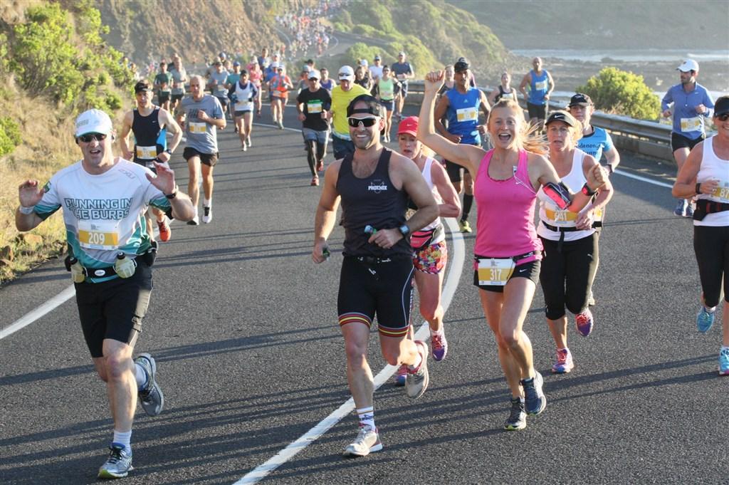 Great Ocean Road Marathon Runners on Great Ocean Road